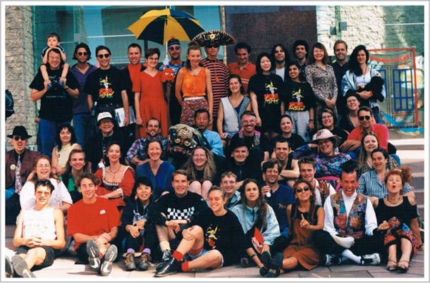 Cast of the 1997 Edmonton International Street Performers Festival